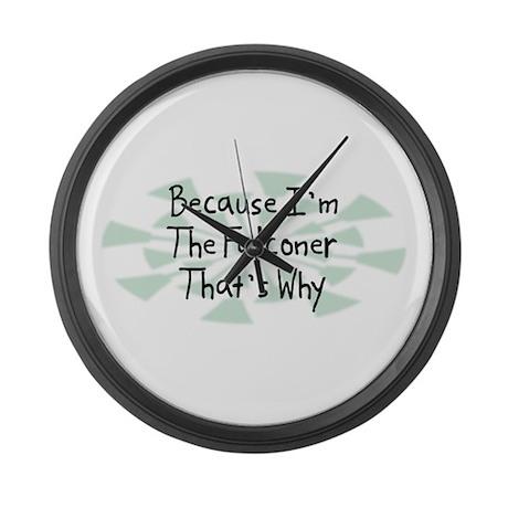 Because Falconer Large Wall Clock