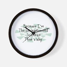 Because Environmental Scientist Wall Clock