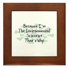 Because Environmental Scientist Framed Tile