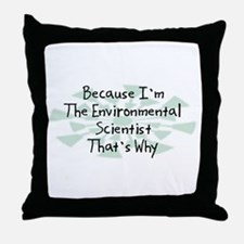 Because Environmental Scientist Throw Pillow
