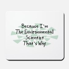 Because Environmental Scientist Mousepad