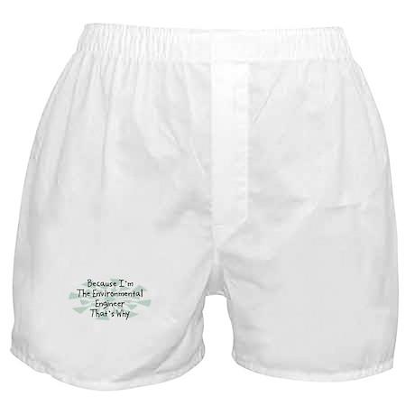 Because Environmental Engineer Boxer Shorts
