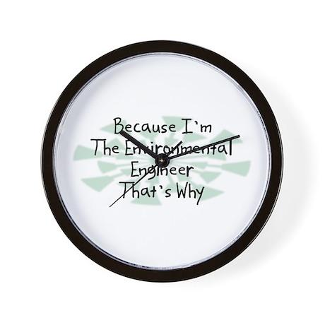 Because Environmental Engineer Wall Clock