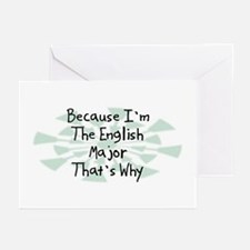 Because English Major Greeting Cards (Pk of 20)