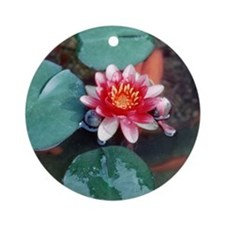 Japanese goldfish & water lily Christmas ornament