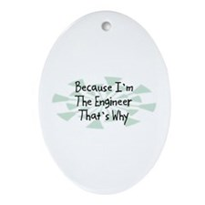 Because Engineer Oval Ornament