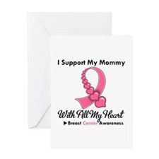 BreastCancerSupportMommy Greeting Card