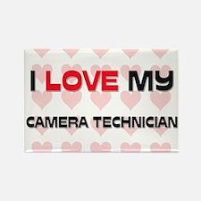 I Love My Camera Technician Rectangle Magnet