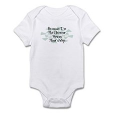 Because Elevator Person Infant Bodysuit
