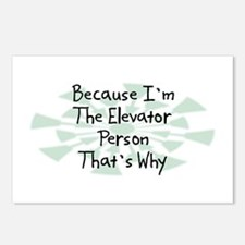 Because Elevator Person Postcards (Package of 8)