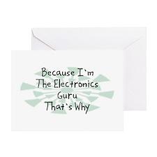 Because Electronics Guru Greeting Card