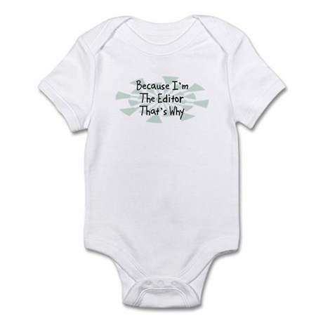 Because Editor Infant Bodysuit