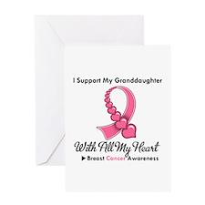 BreastCancerGranddaughter Greeting Card
