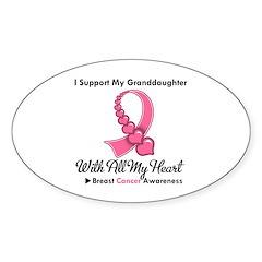 BreastCancerGranddaughter Oval Decal