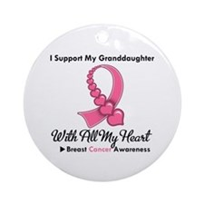 BreastCancerGranddaughter Ornament (Round)