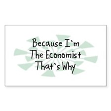 Because Economist Rectangle Decal