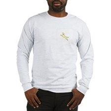 Yellow Dock Jumping Dog Long Sleeve T-Shirt