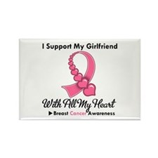 BreastCancerGirlfriend Rectangle Magnet (10 pack)