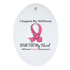 BreastCancerGirlfriend Oval Ornament