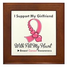 BreastCancerGirlfriend Framed Tile