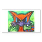 Orange Cat Rectangle Sticker