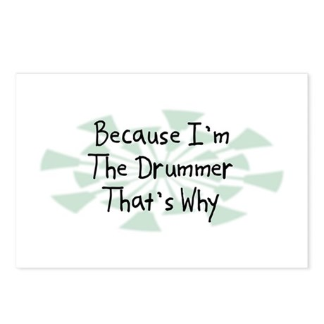 Because Drummer Postcards (Package of 8)