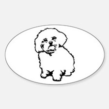 White Oval Decal