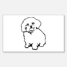 White Rectangle Sticker 10 pk)