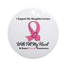 BreastCancerDaughter-in-Law Ornament (Round)
