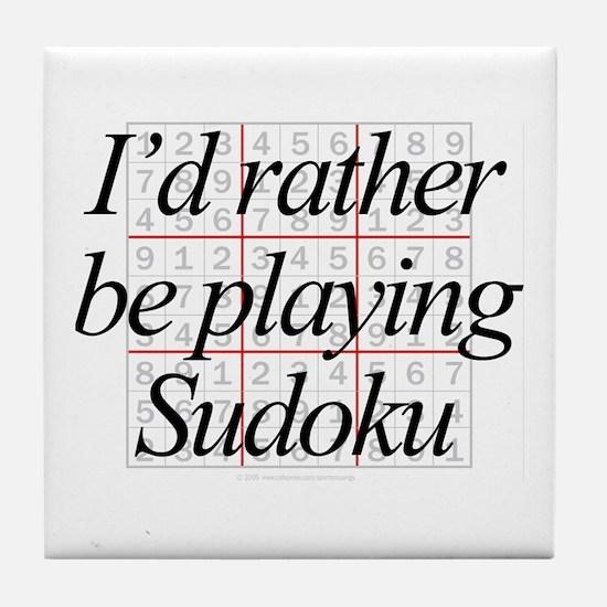 Rather Sudoku Tile Coaster