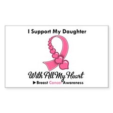 BreastCancerSupportDaughter Rectangle Decal