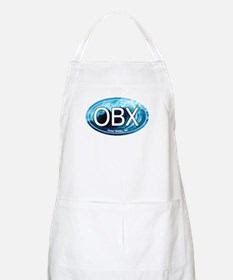 OBX Outer Banks NC Wave Oval BBQ Apron