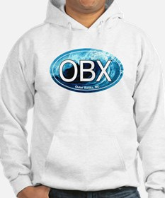 OBX Outer Banks NC Wave Oval Hoodie