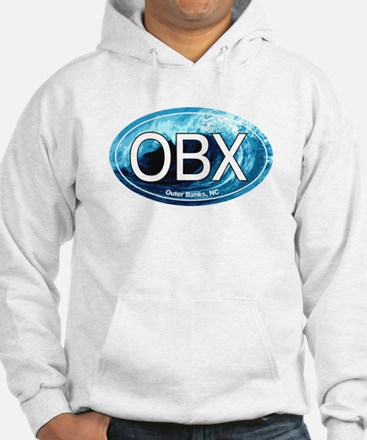 OBX Outer Banks NC Wave Oval Jumper Hoody