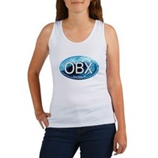 OBX Outer Banks NC Wave Oval Women's Tank Top