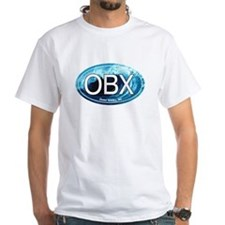 OBX Outer Banks NC Wave Oval Shirt