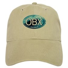 OBX Outer Banks NC Wave Oval Baseball Cap