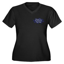 Because Dispatcher Women's Plus Size V-Neck Dark T