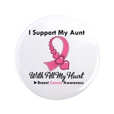 "BreastCancerSupportAunt 3.5"" Button"