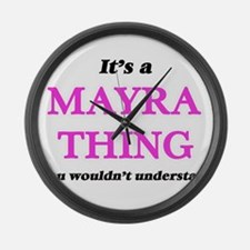 It's a Mayra thing, you would Large Wall Clock