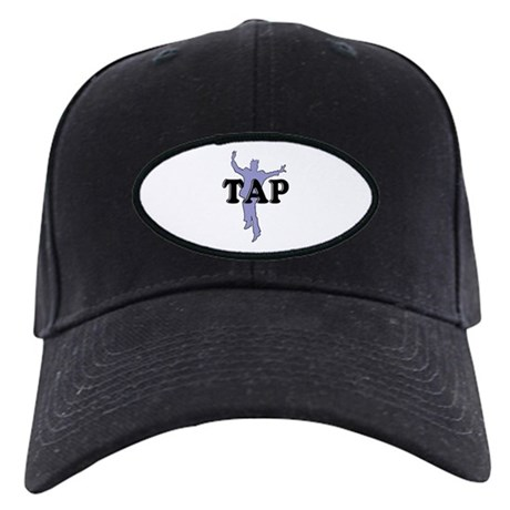 Tap Dancer Silhouette Black Cap