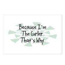 Because Curler Postcards (Package of 8)