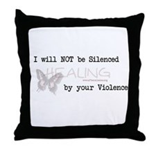 I Will Not Be Silenced Throw Pillow