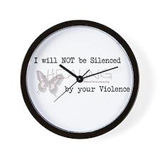 I Will Not Be Silenced Wall Clock
