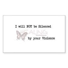 I Will Not Be Silenced Rectangle Decal
