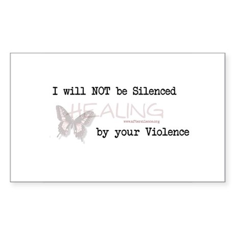I Will Not Be Silenced Rectangle Sticker