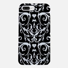 Black And White Damask Pattern iPhone 7 Plus Tough