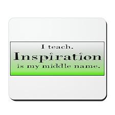 I Teach - Green Mousepad