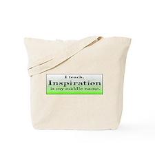 I Teach - Green Tote Bag