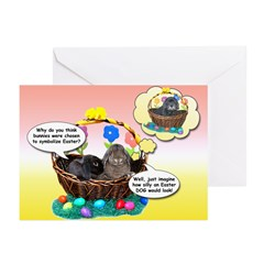 Easter Bunnies-Dog Greeting Cards (Pk of 10)